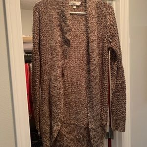 Mixed Brown & Cream Colored Cardigan